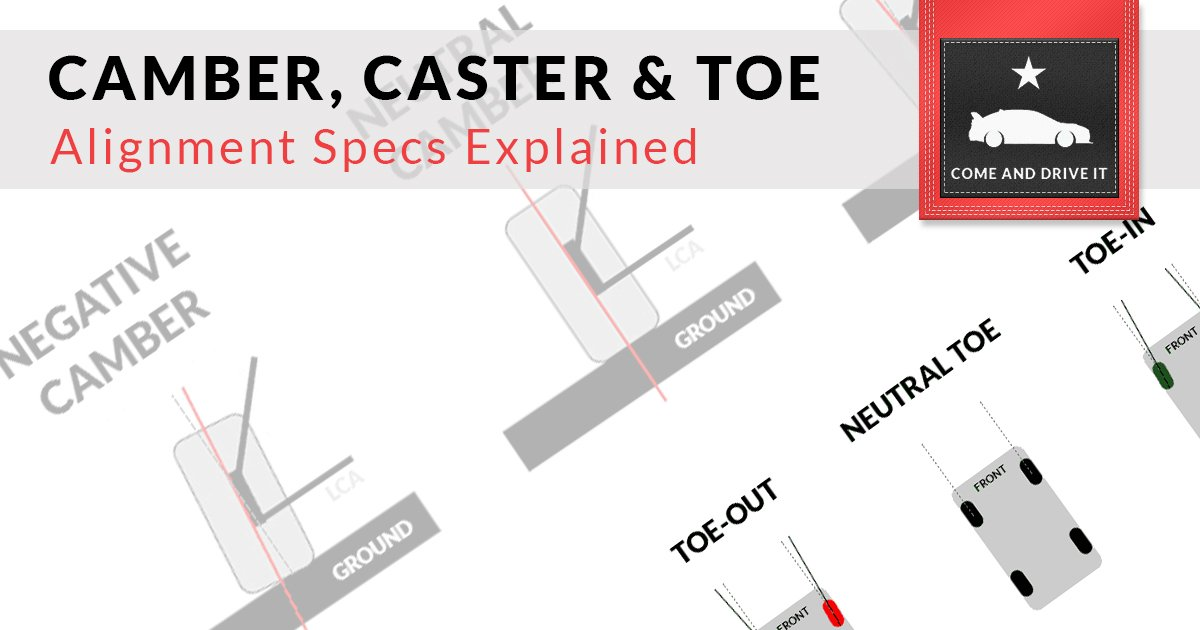 Learn About Positive and Negative Camber, Caster, and Toe